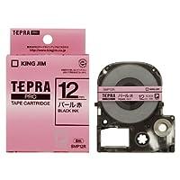 キングジム PROテープパール色テープ 赤/黒文字 SMP12R 【5セット】