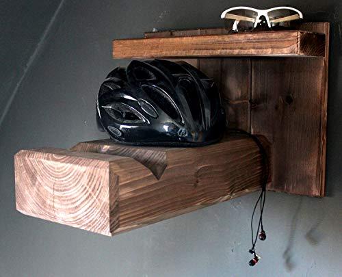 Homeclassics - Soporte de pared de madera para bicicletas de carretera o de montaña - Soporte exclusivo para la pared - También para manillares anchos
