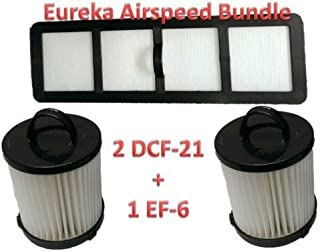 Casa Vacuums Filter Bundle 2 DCF21 & EF6 HEPA Exhaust Filter for Eureka Vacuum 68931A, 69963 for Air Speed Vacuum AS1000A, AS1001A, AS1004A, AS1002A, AS1041A