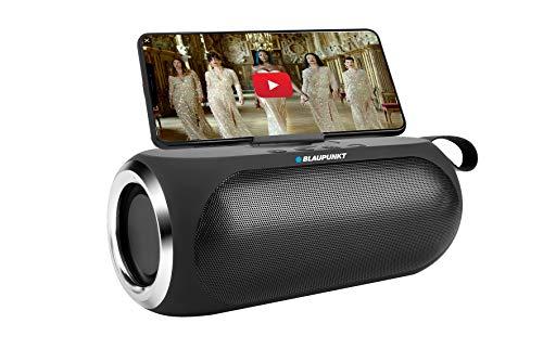 BLAUPUNKT MP3750-133 Tragbarer Lautsprecher, Bluetooth, 16 W (8 W x 2), Schwarz