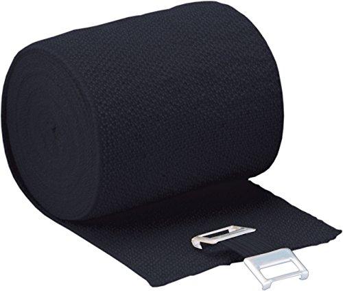 Höga Lastic-Color, schwarz, 6 cm x 5 m gedehnt, dauerelastische Idealbinde, 1er Pack (1 x 0.036 kg)