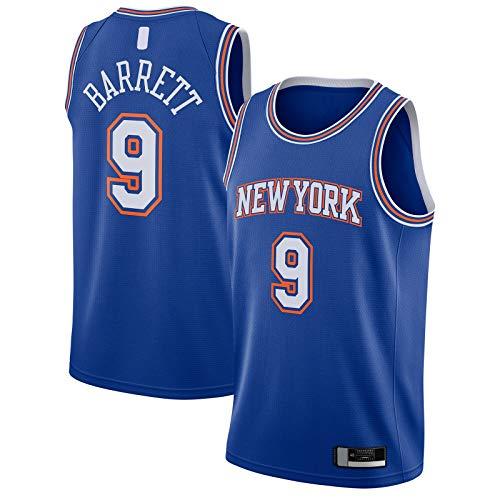 RJ Basketball Jersey York Outdoor New Sportswear Barrett Ropa Knicks Cómodo #9 2019/2020 Swingman Jersey Azul - Statement Edition-XL
