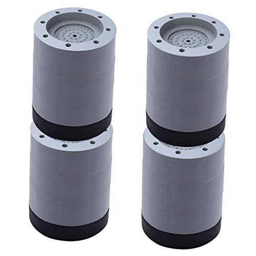 Baoblaze Pack von 4 Anti Vibration Washer Füße Pad,Universal Waschmaschine Anti-Skid Roller Kit, möbel Hebe Fuß Basis - 8,5 cm
