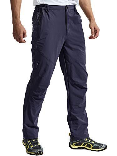 TBMPOY 登山パンツ メンズ アウトドア トレッキングパンツ ゴルフ ロングパンツ 薄手 吸汗速乾 ストレッチ ハイキング ネイビー XXL