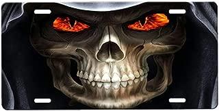 onestopairbrushshop Grim Reaper License Plate