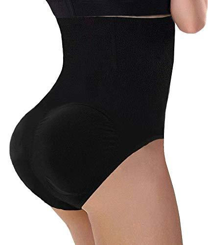 GloryLife Womens Fake Buttock Briefs Butt Lifter Padded Control Panties Hip Enhancer Underwear Shapewear XXL, Black