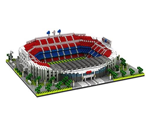 DDTT Camp NOU Stadium Welt Berühmte Architektur Modell 3500 Stücke Micro Mini Bausteine Kits Geschenke Für Erwachsene Und Kinder DIY Spielzeug