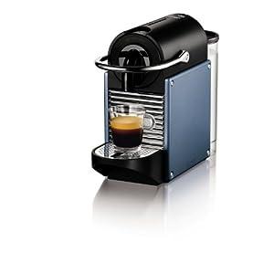 Nespresso Pixie Aluminium EN125A DeLonghi – Cafetera monodosis (19 bares, Apagado automático, Sistema calentamiento rápido), Color azul