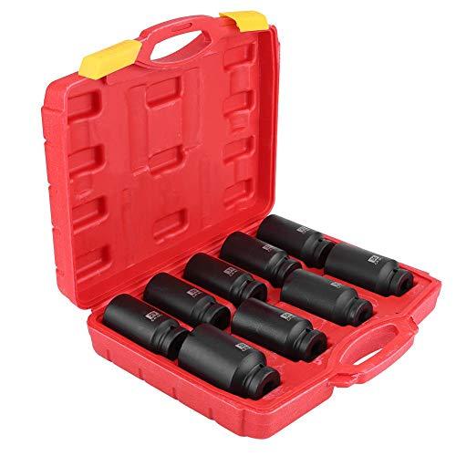 Set di 9 chiavi a bussola esagonali per mozzo assale da 1/2', dadi esagonali da 29 mm, 30 mm, 31 mm, 32 mm, 33 mm, 34 mm, 35 mm, 36 mm, 38 mm.