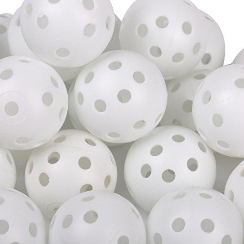 Andux 40pcs balles Plastique de Golf de Pratique Blanc KXQ