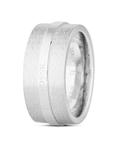 Fossil JF01907 Herren Ring Edelstahl 20,1 mm Größe 63