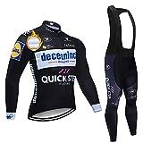 ashbeik magliette ciclismo uomo invernale, asciugatura rapida completo ciclismo con lunghe salopette ciclismo per mtb bici corsa