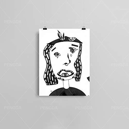 HGlSG (No Frame) 40x60cm Dog Knight Animals Poster und Drucke Malerei Welpe Moderne Leinwand Kunst Grafik Bilder Wohnkultur für Wohnzimmer