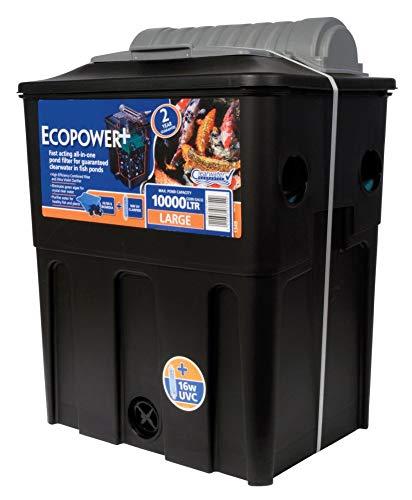 Durable tool Hozelock Ecopower + 10000 UVC 16 W Filtre pour bassin à poissons Noir