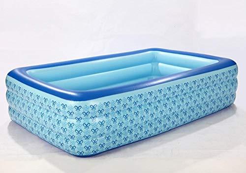 OKOUNOKO Fast Set Pool, Gartenpool selbstaufbauend mit aufblasbarem Luftring rund im Komplett Set, Inflator, Schmetterling-315 * 250 * 55cm