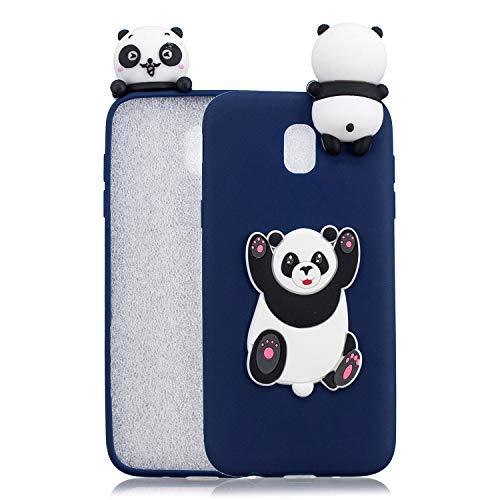 HopMore Compatible con Funda Samsung Galaxy J5 2017 Silicona Dibujo 3D Divertidas Panda Animal Carcasa TPU Gel Ultrafina Slim Case Antigolpes Caso Protección Cover Design Gracioso - Big Panda