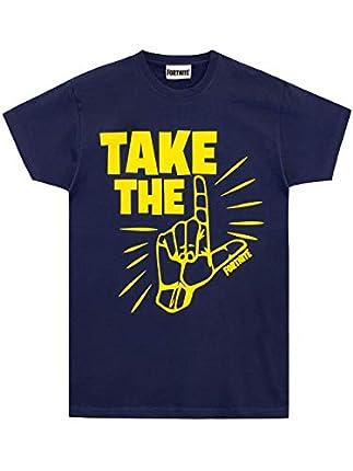 Fortnite Take The L- Camiseta, 100% Cotton para niño [7-8 años] [azul]