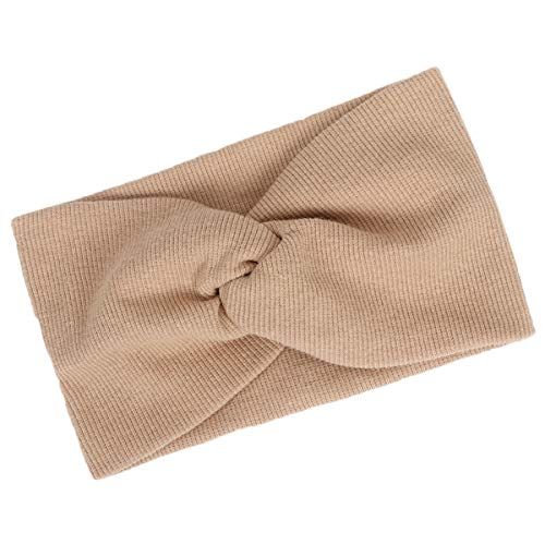 Borlai haarband voor baby's, elastisch, met turbankop, voor meisjes