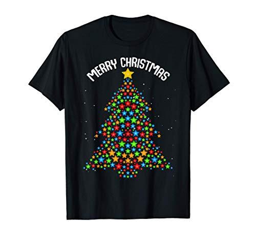 Árbol de la Navidad Adviento Familia de la pareja Divertida Camiseta