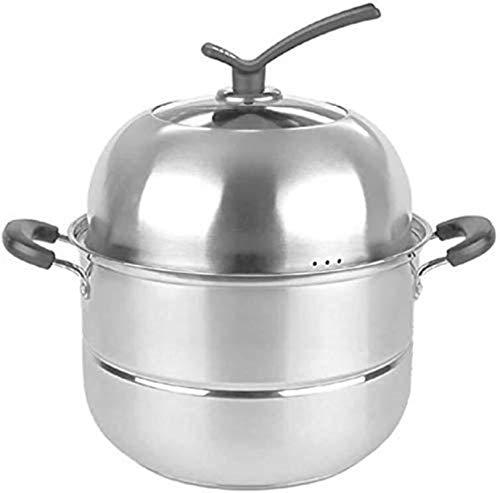 XY-M Cocina de Vapor Conjunto para cocinar Acero Inoxidable Vaporizador de inducción Hop Marco Universal Pot 26 cm (Tamaño: 28 cm)