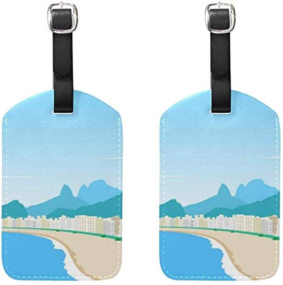標高十億内部荷物タグ2個ポータブルAddr名札ホルダーIDラベルチェックカードトラベルバッグスーツケース