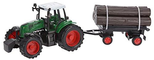 Eliware Spielzeug Traktor mit Anhänger (Dunkelgrün)