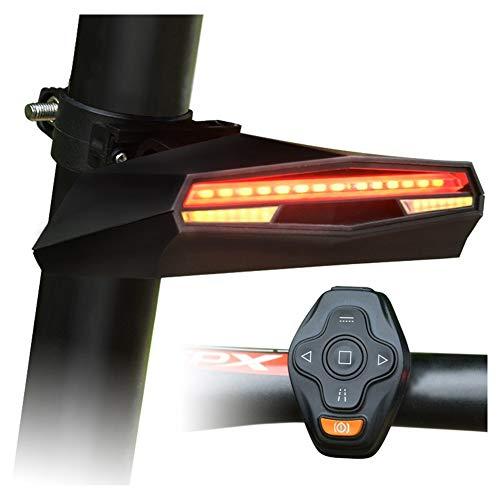 Newin Star Fahrradrücklicht mit Blinkern, Funk-Fernbedienung Fahrradrücklicht zurück USB aufladbare Helle Sicherheit Warnung Bike Bremse Rückleuchten für Straßen-Fahrrad
