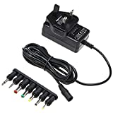 AmazonBasics Universal DC Power Supply with 7 detachable tips, 3-12V, Reversible Polarity
