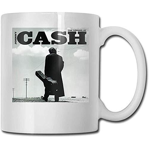 Tassen Legende von Johnny Cash Design Mode Kaffeetasse Tee Cup Geschenk für Fans Ehemann Ehefrau Freundin Weiß