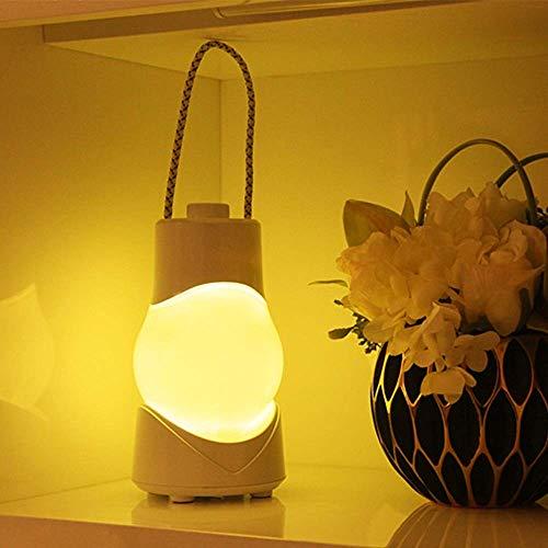 Lámpara Escritorio Caja de música portátil Luz nocturna Carga USB Escritorio inteligente Escritorio Temporización Dormitorio Mesita de noche Lámpara de aceite LED Forma Luz blanca cálida Diversión (Co