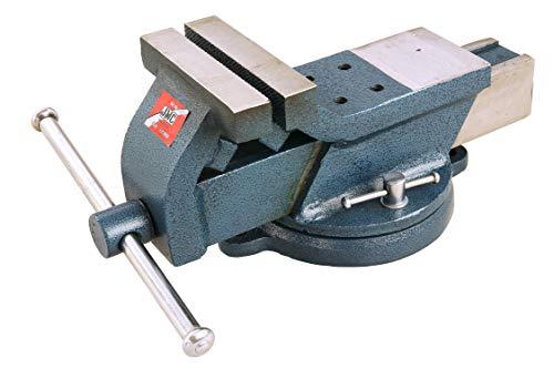 Pro-Lift-gereedschappen 360° draaibare parallelle bankschroef, met aambeeldje, voor werkbank, 125 mm