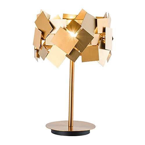 XinMeiMaoYi lámpara de mesa Lámpara De Mesa Posmoderna De Acero Inoxidable Dorado Hotel Recepción Villa Modelo Habitación Sala De Estar Dormitorio Lámpara De Mesa Personalizada De Lujo