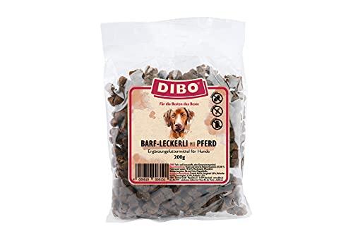 DIBO Barf Leckerli, 200g Pferd Hundesnack klein und praktisch Trainings Hundeleckerlies zuckerfrei, gesund und lecker (Pferd)