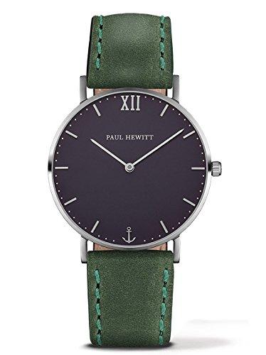Paul Hewitt Unisex Analog Quarz Uhr mit Leder Armband PH-SA-S-Sm-B-12M