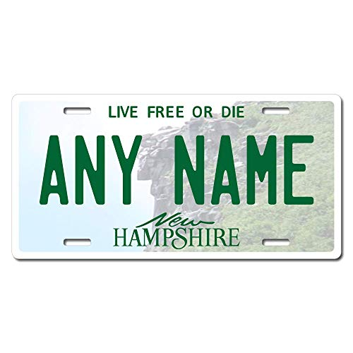 TEAMLOGO Personalized New Hampshire License Plate - Sizes for Kid