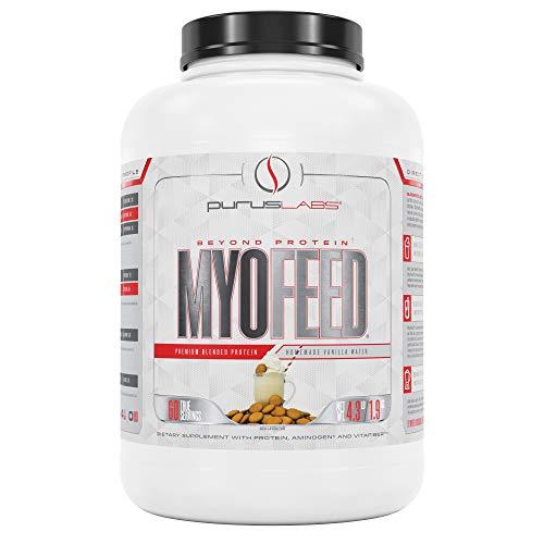 Purus Labs Myofeed Premium Blended Protein Powder, Homemade Vanilla Wafer, 4.4 Pound