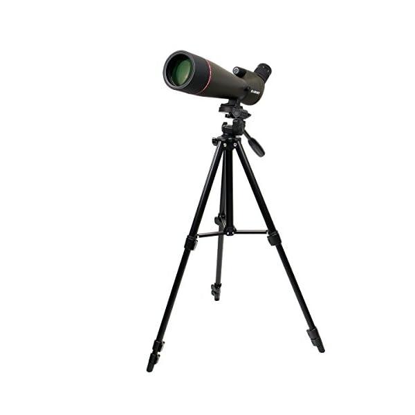 Svbony SV13 20-60x80 Spotting Scope Waterproof FMC BK7 Silver Reflection Coated Refractor Telescope Spotting Scope for Bird Watching with Standard Tripod