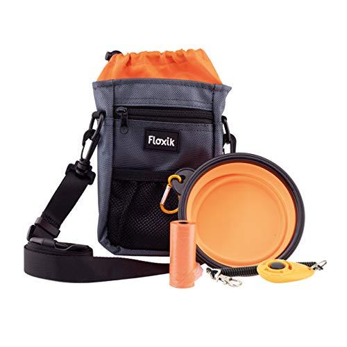 Floxik Premium Futterbeutel | praktischer Allrounder Leckerli-Beutel für Hunde | Leckerlie-Tasche für Hundetraining & Welpenerziehung