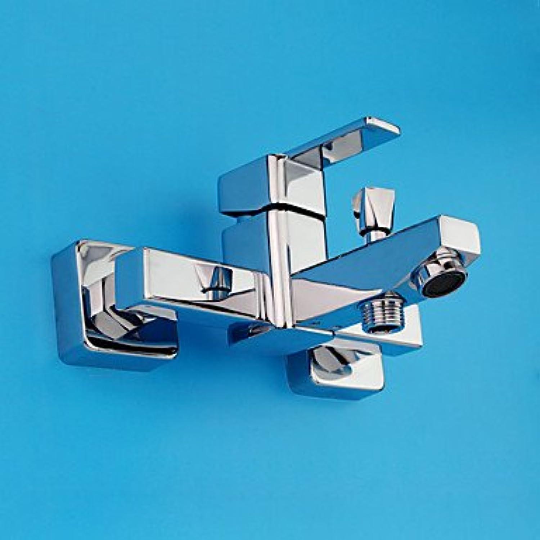 YFF@ILU Zeitgenssischen modernen nur Dusche weit verbreitete withCeramic Ventil einzigen Griff zwei Bohrungen forChrome, Dusche Wasserhahn