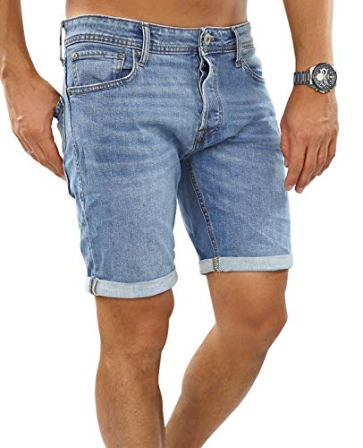 JACK & JONES Herren JJIRICK JJORIGINAL 702 STS Shorts, Blau (Blue Denim Blue Denim), 50(Herstellergröße: M)