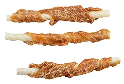 Pet Center Chick n' Hide Dog Treats, Chicken Breast Wrapped Rawhide Sticks, 6 Per Pack - Bulk 72 Pack