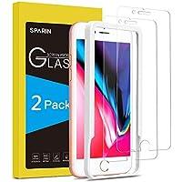 SPARIN [2-Pack] Protector Pantalla iPhone 7 Plus/iPhone 8 Plus, Cristal Templado iPhone 7/8 Plus, Vidrio Templado con [Sin Cobertura Toda Pantalla] [Alta Definición] [9H Dureza] [Anti-Huella]