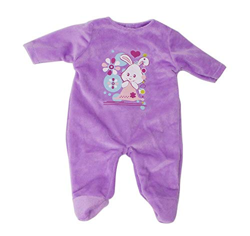 DUORUI Puppenkleidung Winter Outfit Pyjamas Plüsch Nachthemd für American Girl Puppe 18 Zoll Kaninchen Muster