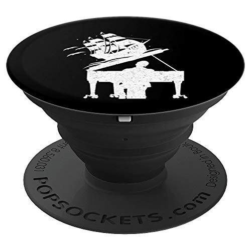Nave Piano Reproductor Pianista Sintetizador Teclado Regalo PopSockets Agarre y Soporte para Teléfonos y Tabletas