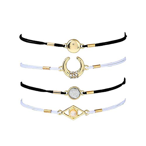 FOR TMT Armband Gehäkeltes Diamantarmband-Geometrieset Handgewebt Geschenk