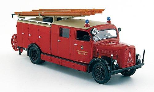 Magirus S 3000 SLG, Freiwillige Feuerwehr Stadt Neu-Ulm, 1941, Modellauto, Fertigmodell, Yat Ming 1:43