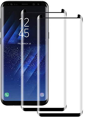 NUOCHENG [2 stück Panzerglas Schutzfolie für Samsung Galaxy S8 Plus/S8+, Volle Bedeckung Panzerglasfolie, Anti- Kratzer, 9H Härte, HD-Klar Displayschutzfolie für Samsung Galaxy S8 Plus/S8+