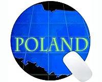 カスタムオリジナルラウンドマウスパッド、ポーランドテーマオフィスラウンドマウスパッド