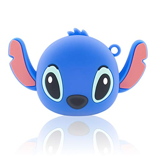 for Galaxy Buds Live Case Cover(2020), Shockproof Silicone 3D Cute Cartoon Character Case Ear Stitch Blue Designed for Galaxy Buds Live Charging Case (Blue)