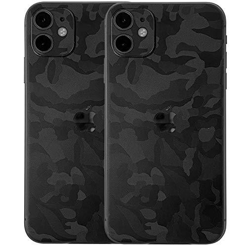 TF Skins Apple iPhone 11 [2 Stück] Schutzfolien Skin für die Rückseite in edler Optik (Shadow Black)